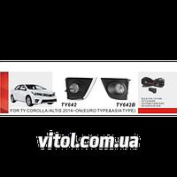 Фары дополнительные для автомобиля TY-642W, модель Toyota Corolla 2013-, электропроводка, автооптика, автомобильные фары