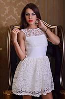Платье мини из гипюра с пышной юбкой(3 цвета) 318, фото 1