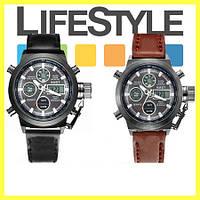 Легендарные мужские часы AMST + ПОДАРОК Кошелек Leather