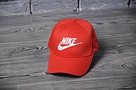Кепка, бейсболка  топ качества , Nike, (красный), Реплика