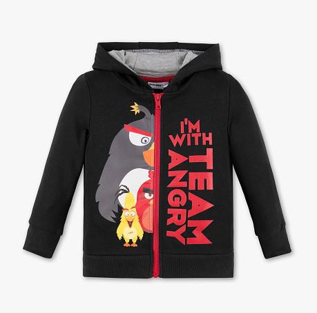 Детская кофта на молнии с Angry Birds для мальчика 3-4 года C&A Германия Размер 104