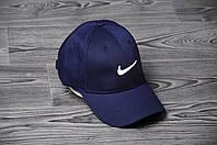 Кепка, бейсболка  топ качества , Nike, найк (темно-синий), Реплика