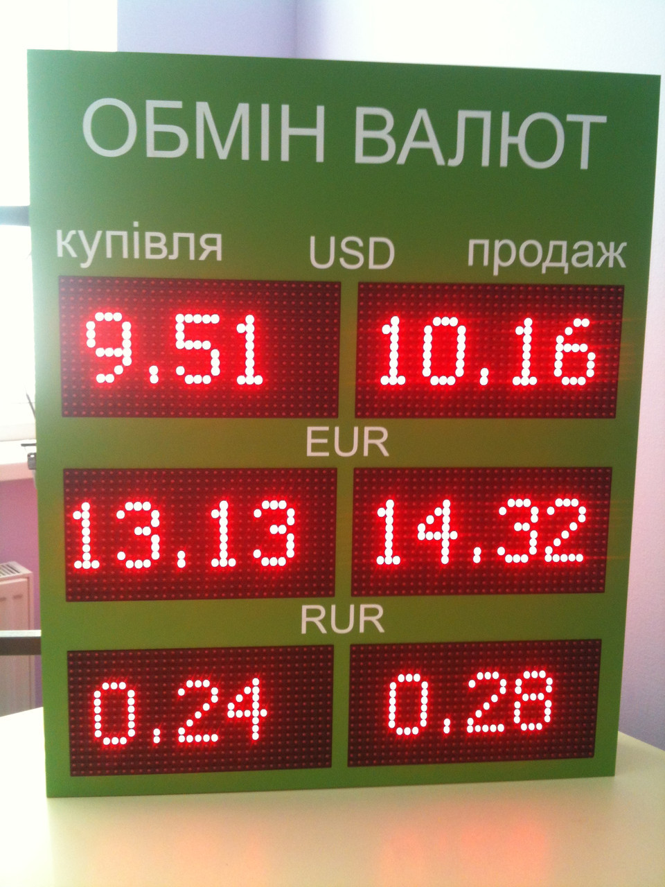Светодиодное табло валют (двухстороннее)