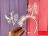 Обруч карнавальный Снежинка, только упаковкой по 12 штук