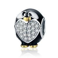 """Серебряная подвеска шарм Пандора """"Очаровательный пингвин"""""""