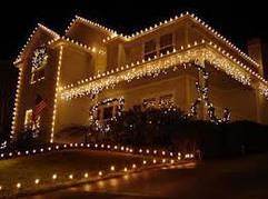 Новогодние украшение фасадов домов.