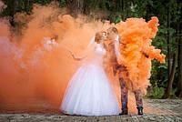 Дым для свадебных фотосессий, 50 секунд. красный, синий, зеленый, желтый, оранжевый