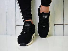 Кроссовки Adidas Equipment, черные с белым - Топ качество ААА+, Реальные фото, сетка, легкие, модные, фото 2