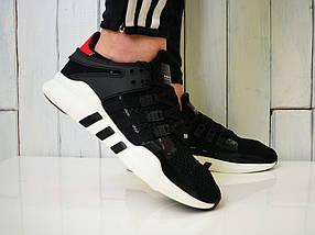 Кроссовки Adidas Equipment, черные с белым - Топ качество ААА+, Реальные фото, сетка, легкие, модные, фото 3