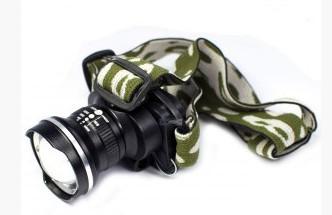 Фонарь налобный с фокусировкой луча , Налобный фонарик с зумом, туристический,шахтерский
