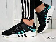 Кроссовки Adidas Equipment - Топ качество ААА+, Реальные фото, сетка, легкие - Green/Black/White