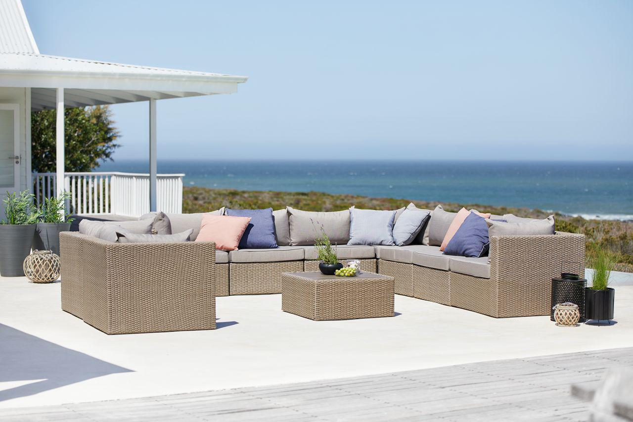 Комплект мебели 8-местный натура