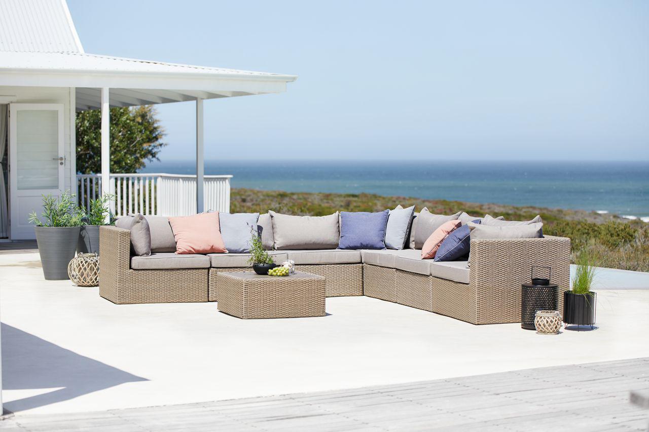 Комплект мебели 7-местный натура
