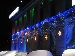Новогодние украшение торговых центров.