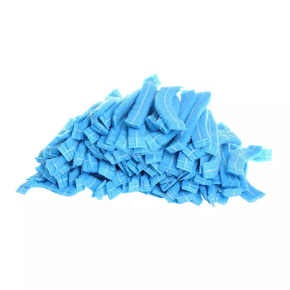 Шапочка одноразовая (гармошка), синяя, 10 шт