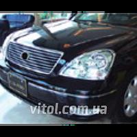 Накладка декоративная хромированная для украшения автомобиля (SP 42220-01C), для LEXUS LS 430, на передние фары, накладка на авто, хром-пакет
