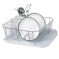 Сушка для посуды с поддонном (нерж) Rainbow