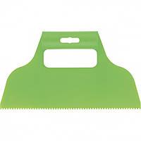 Шпатель для клея Сибртех пластмассовый 230 мм (зуб 2 х 2 мм)