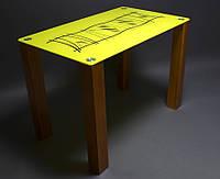 Стеклянный стол кухонный Бамбук