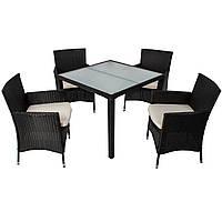 Комплект мебели из искусственного ротанга 4+1 RATY FV скло