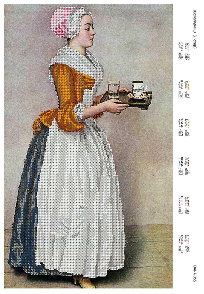 Схема для вышивки бисером или нитками Шоколадница