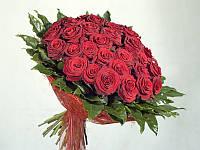 Роза красная 50см  в букете 39 шт