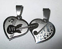 "Кулон ""Гитара и сердце, пара"" от студии LadyStyle.Biz, фото 1"