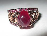 """Яркий перстень """"Капля крови """" со звездчатым рубином , размер 17.2 от студии LadyStyle.Biz, фото 1"""