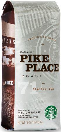 Кофе Starbucks Pike Place Roast в зернах 453 г