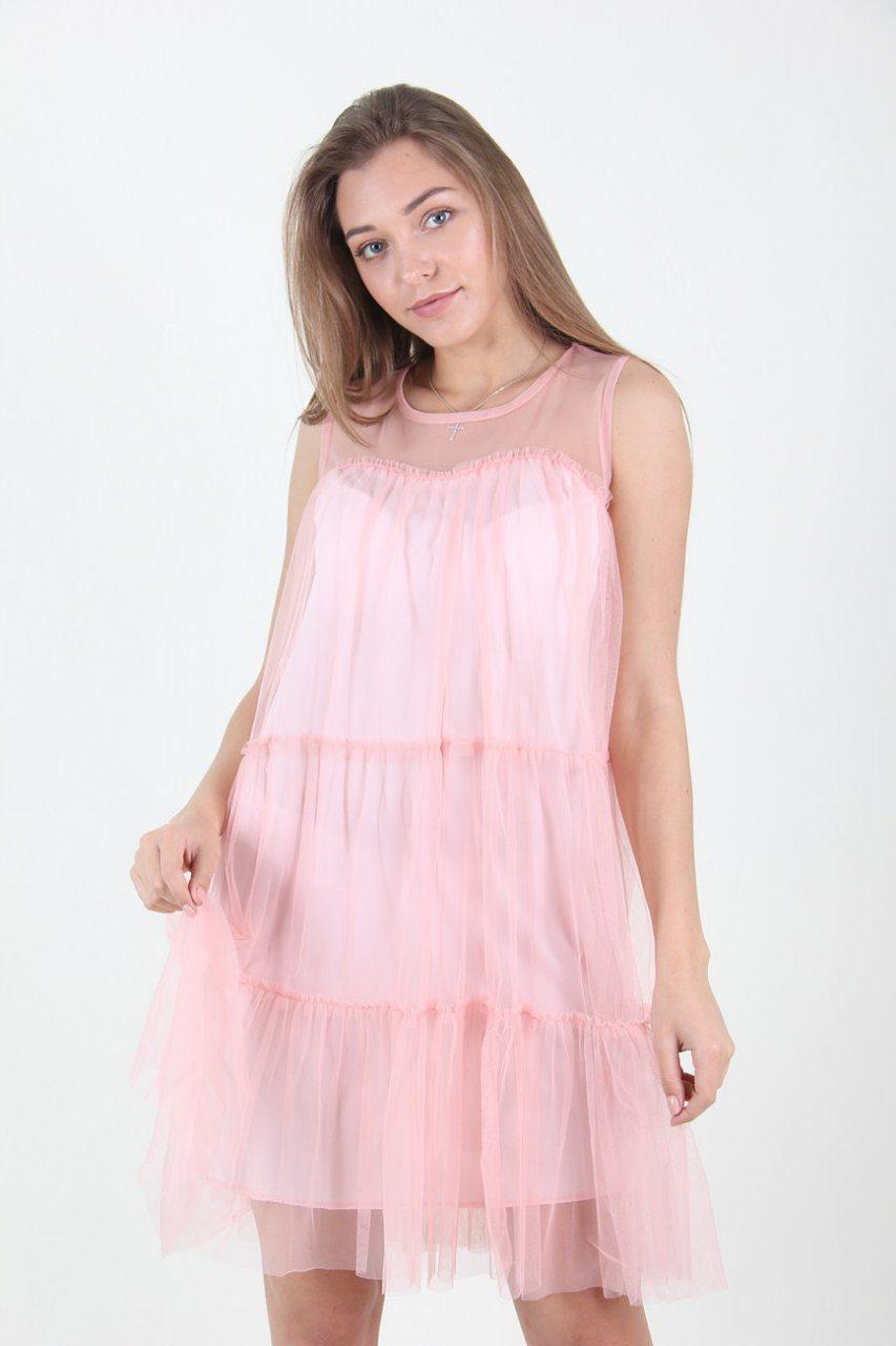9337d490b08 Воздушное нежно-розовое платье: продажа, цена в Хмельницком. платья ...