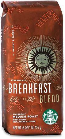 Кофе Starbucks Breakfast Blend в зернах 453 г