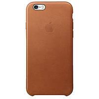 Чехол кожаный Apple Leather Case iPhone 6 Saddle Brown (коричневый)