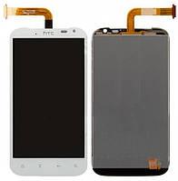 Оригинальный дисплей HTC Sensation XL X315e белый (LCD экран, тачскрин, стекло в сборе)
