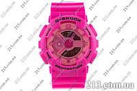 Спортивные часы с водозащитой Casio G-Shock Ga-110 Pink розовые шоки