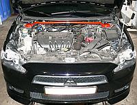 Распорка передних стоек Mitsubishi Lancer X  с установкой! Киев