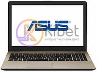 Ноутбук 15' Asus X542UQ-DM030 Golden 15.6' матовый LED Full HD (1920x1080), Intel Core i3-7100U 2.4GHz, RAM 4Gb, SSD 128Gb, nVidia GeForce 940MX 2Gb,