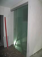 Матовые раздвижные двери из стекла