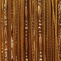 Шторы нити кисея Цепи Золотой (№16)