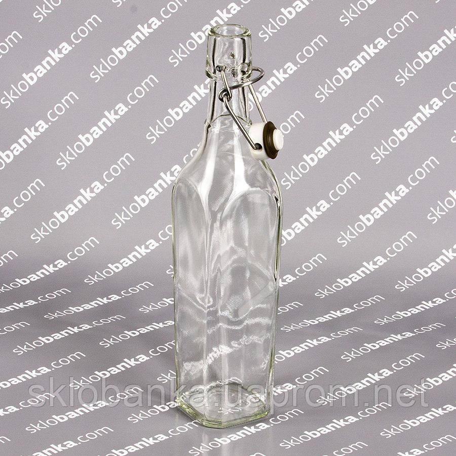 Бутылка 0,5 л штоф с бугельной крышкой