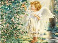 """Набор для рисования камнями """"Ангелочек в дивном саду"""""""