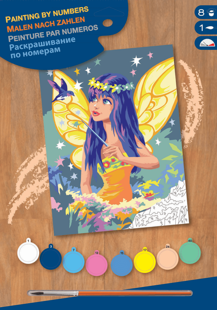 Набор для творчества Sequin Art PAINTING BY NUMBERS JUNIOR Golden Fairy SA1335