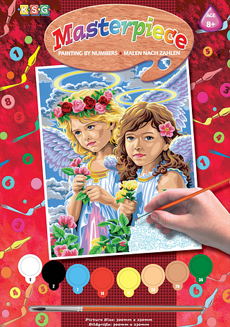 Набор для творчества Sequin Art PAINTING BY NUMBERS JUNIOR Angels SA0532                            , фото 2