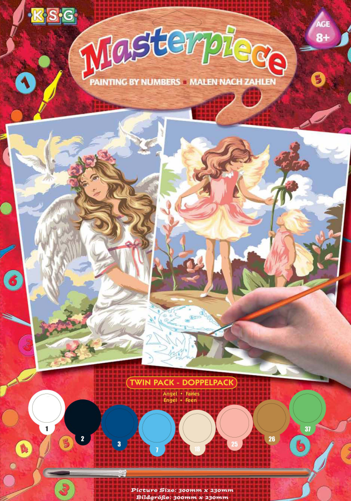 Набор для творчества Sequin Art PAINTING BY NUMBERS JUNIOR-PAIRS Fantasy SA0818