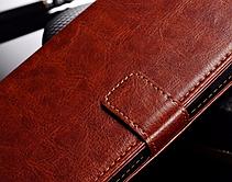Кожаный чехол-книжка для Samsung Galaxy A7 A710 (2016) черный, фото 2