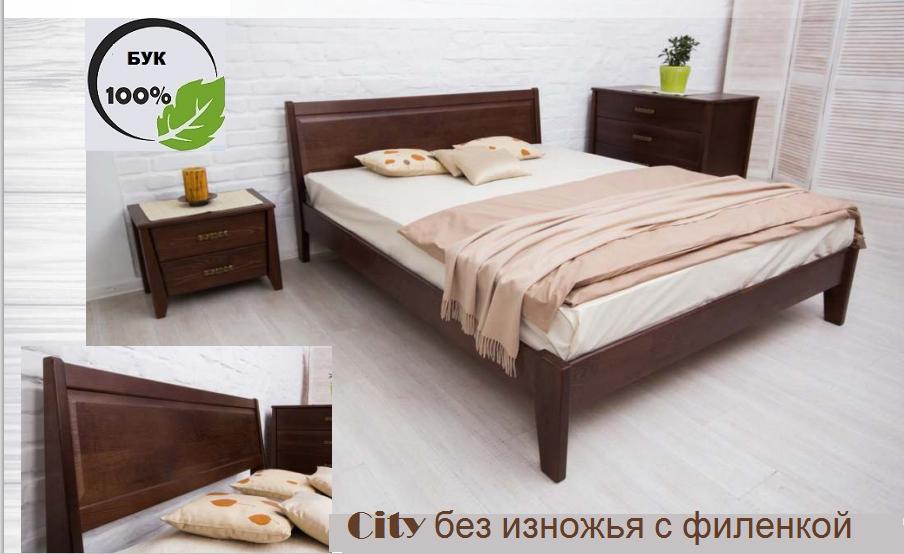 Двуспальная кровать City с филенкой без изножья