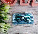 Детская ажурная повязка на голову с бантиком в пайетках 12 шт/уп, фото 5
