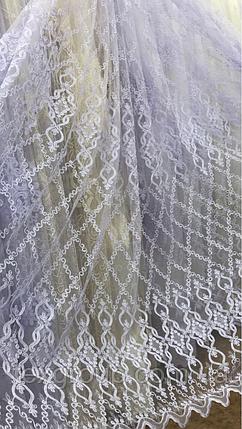 Тюль фатин белый VTS-116004, фото 2