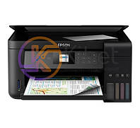 МФУ струйное цветное Epson L4160 (C11CG23403), Black, WiFi, 5760х1440 dpi, до 33/15 стр/мин, дуплекс, ЖК экран 3,7 см, CardReader, USB, встроенное