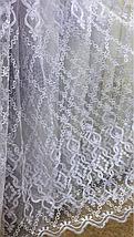 Тюль фатин белый VTS-116004, фото 3