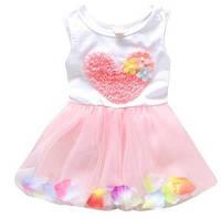 Платье-пачка для малышек лепестками